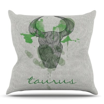 Taurus by Belinda Gillies Outdoor Throw Pillow