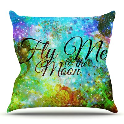 Fly Me To The Moon by Ebi Emporium Outdoor Throw Pillow