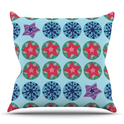 Seasons Winter by Jane Smith Outdoor Throw Pillow