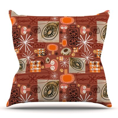 Vintage Kitchen by Jane Smith Outdoor Throw Pillow