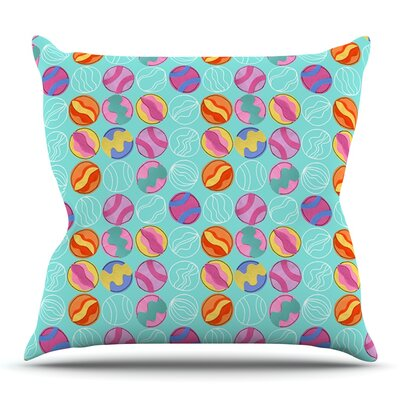 Vintage Playground III by Jane Smith Outdoor Throw Pillow