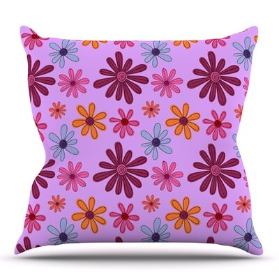 Woodland Floral by Jane Smith Outdoor Throw Pillow