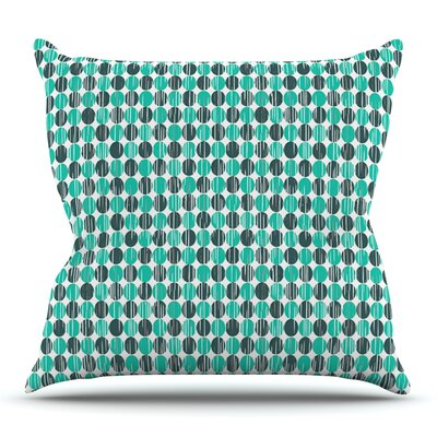 Distressed Circles by Michelle Drew Outdoor Throw Pillow