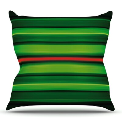 Stripes by Matthias Hennig Outdoor Throw Pillow