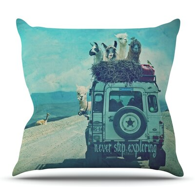 Never Stop Exploring III by Monika Strigel Outdoor Throw Pillow
