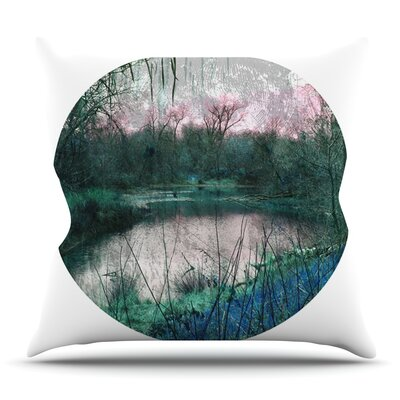 Swamp by Micah Sager Outdoor Throw Pillow