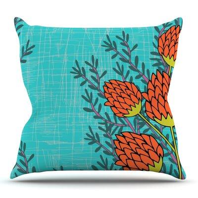 Flower by Nandita Singh Outdoor Throw Pillow