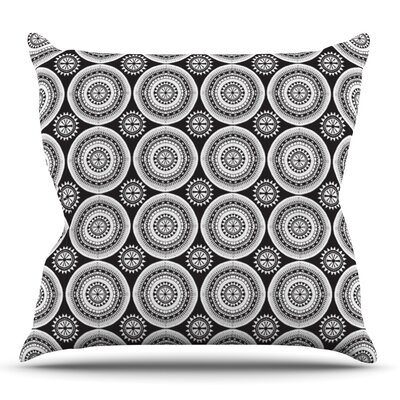 Circles by Nandita Singh Outdoor Throw Pillow