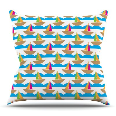 Beside the Seaside by Apple Kaur Designs Outdoor Throw Pillow