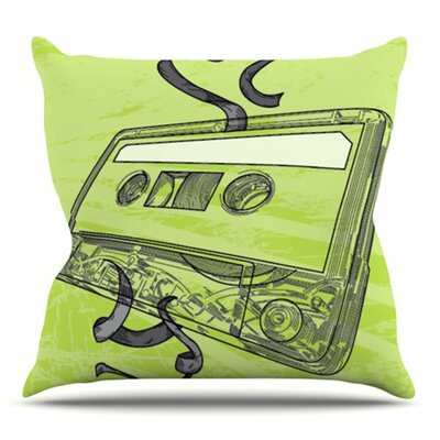 Mixtape by Sam Posnick Outdoor Throw Pillow