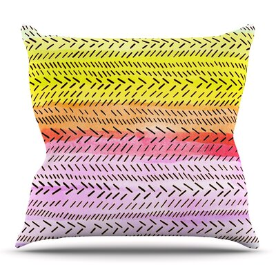 Sunshine by Sreetama Ray Outdoor Throw Pillow