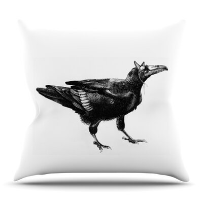 Raven by Sophy Tuttle Outdoor Throw Pillow