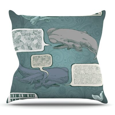 Whale Talk by Sophy Tuttle Outdoor Throw Pillow