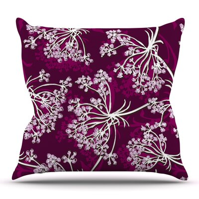 Squiggly Floral by Suzie Tremel Outdoor Throw Pillow