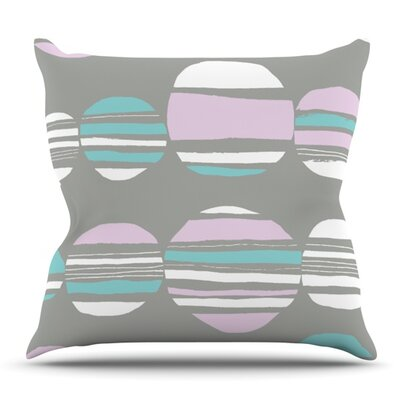 Retro Circles by Emine Ortega Outdoor Throw Pillow Color: Cobalt