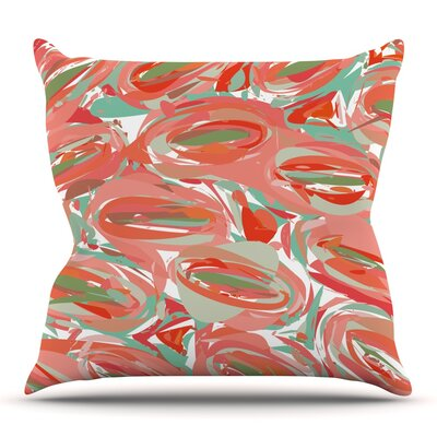 Go Left by Matthias Hennig Outdoor Throw Pillow Color: Orange