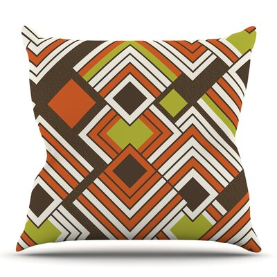 Luca by Jacqueline Milton Outdoor Throw Pillow Color: Coffee