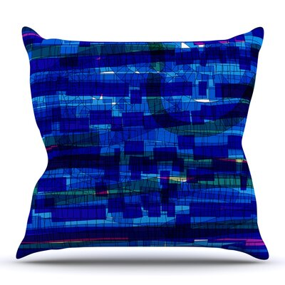 Squares Traffic by Frederic Levy-Hadida Outdoor Throw Pillow Color: Green