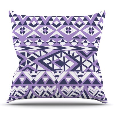 Tribal Simplicity by Pom Graphic Design Outdoor Throw Pillow Color: Teal
