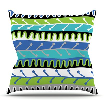 Salsa by Jacqueline Milton Outdoor Throw Pillow Color: Blue