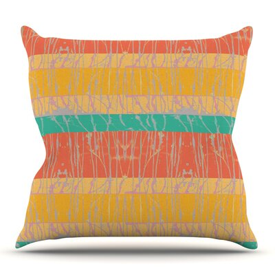 Century City Splatter by Nina May Outdoor Throw Pillow Color: Yellow/Coral