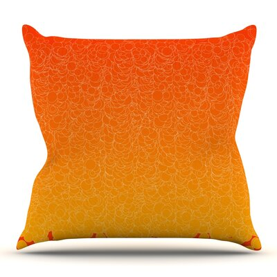 Bubbling by Frederic Levy-Hadida Outdoor Throw Pillow Color: Red