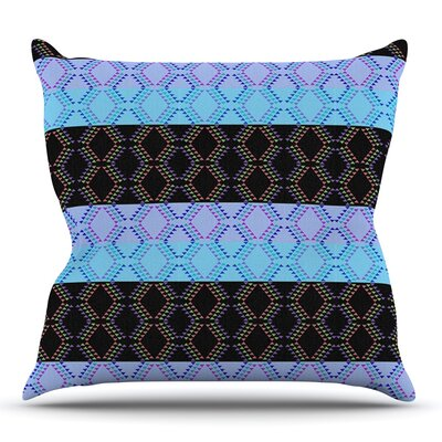 Denin Diamond by Nina May Outdoor Throw Pillow Color: Green/Blue