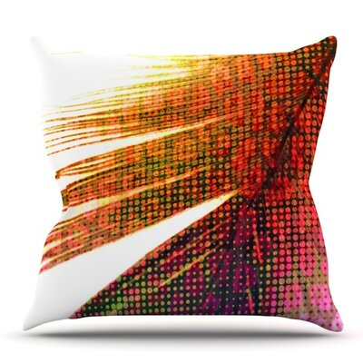 Feather Pop by Alison Coxon Outdoor Throw Pillow