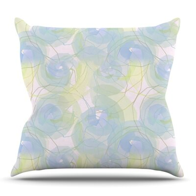 Paper Flower by Alison Coxon Outdoor Throw Pillow