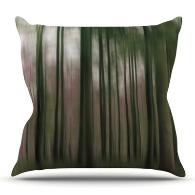 Forest Blur by Alison Coxon Outdoor Throw Pillow