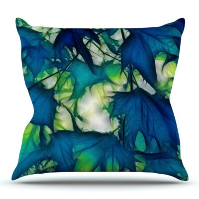 Leaves by Alison Coxon Outdoor Throw Pillow