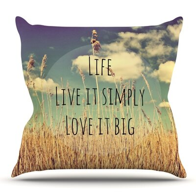 Life by Alison Coxon Outdoor Throw Pillow