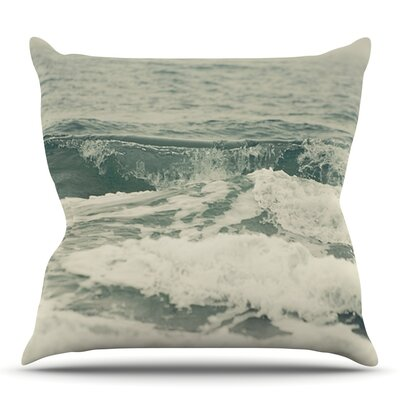 Crashing Waves by Cristina Mitchell Outdoor Throw Pillow