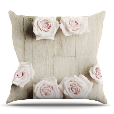 Smile by Cristina Mitchell Outdoor Throw Pillow