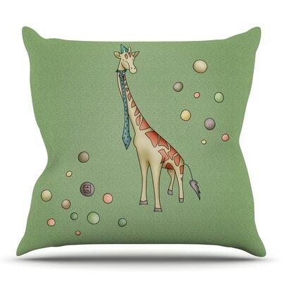 Giraffe by Carina Povarchik Outdoor Throw Pillow