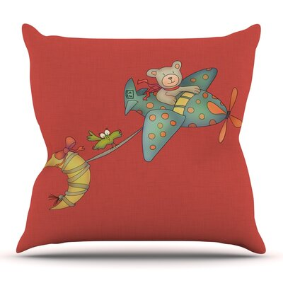 I Will Bring You The Moon by Carina Povarchik Outdoor Throw Pillow