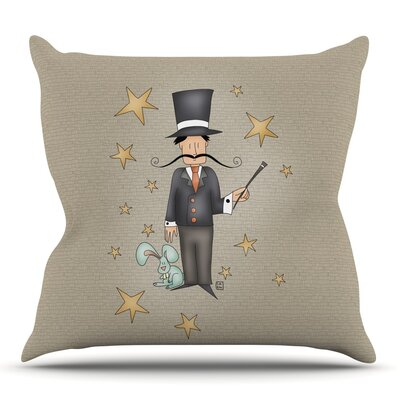 Circus Magician by Carina Povarchik Outdoor Throw Pillow