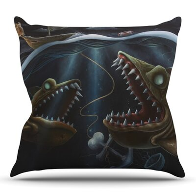 Sink or Swim by Graham Curran Outdoor Throw Pillow