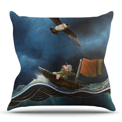 Savages by Graham Curran Outdoor Throw Pillow