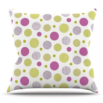 Rhapsody Dot by Julie Hamilton Outdoor Throw Pillow