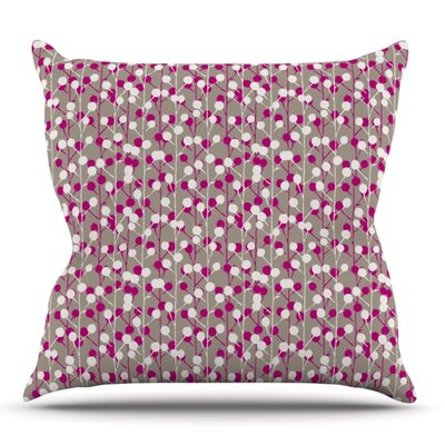 Wineberry by Julie Hamilton Outdoor Throw Pillow