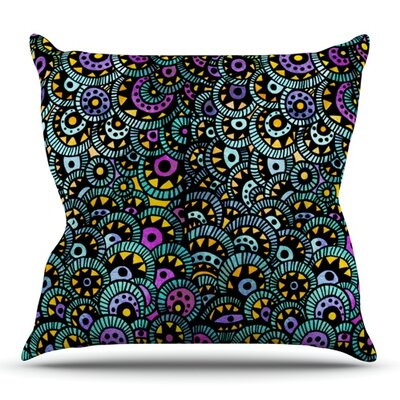 Peacock Tail by Pom Graphic Design Outdoor Throw Pillow