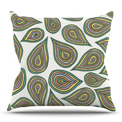 Its Raining Leaves by Pom Graphic Design Outdoor Throw Pillow