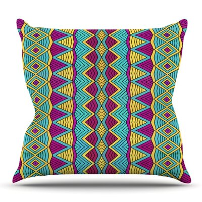 Tribal Soul II by Pom Graphic Design Outdoor Throw Pillow
