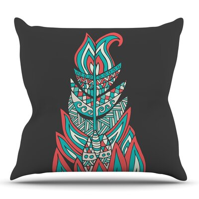 A Romantic Feather by Pom Graphic Design Outdoor Throw Pillow