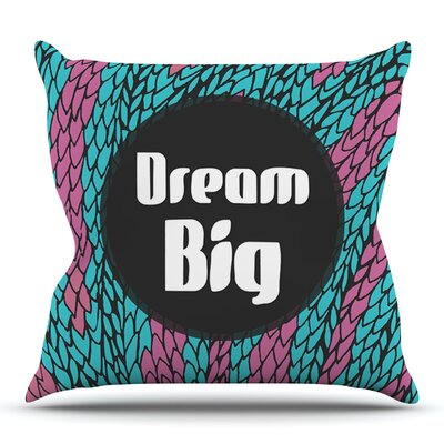 Dream Big by Pom Graphic Design Outdoor Throw Pillow