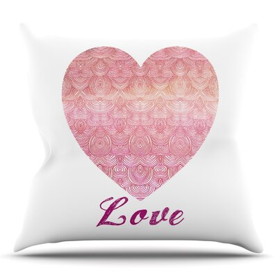 Love by Pom Graphic Design Outdoor Throw Pillow
