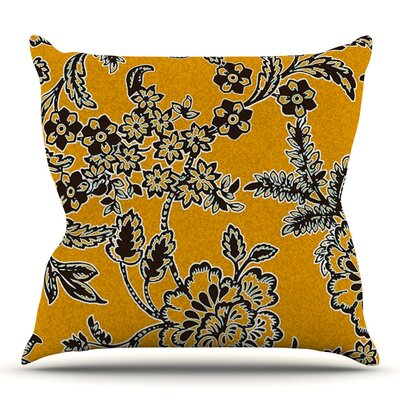 Blossom by Vikki Salmela Outdoor Throw Pillow Color: Brown