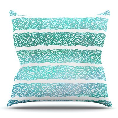 Leafs from Paradise by Pom Graphic Design Outdoor Throw Pillow Color: Teal