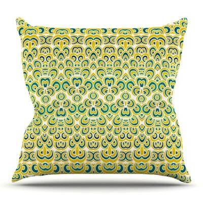 Animal Temple by Pom Graphic Design Outdoor Throw Pillow Color: White